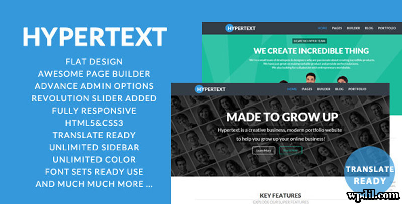 Hypertext,wordpress,wpdil,wp,themes,theme,premium,template,php