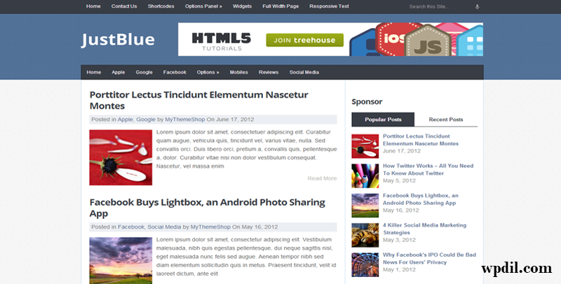 JustBlue,themes,theme,wordpress,wp