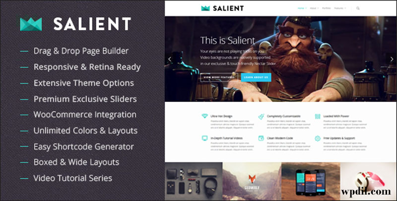 Salient,wp,wordpress,creative,themes,theme,creative