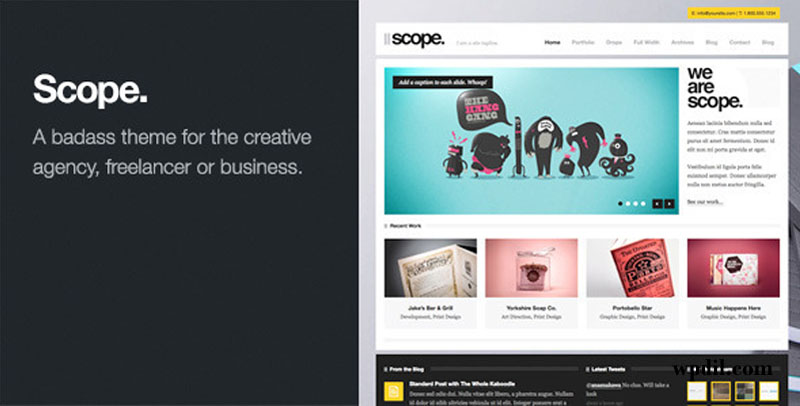 Scoop,wp,wordpress,creative,themes,theme,creative