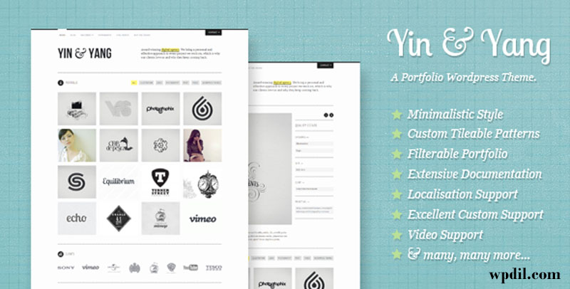Yin & Yang,wp,wordpress,creative,themes,theme,creative