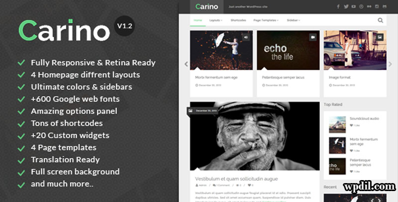 Carino,wordpress,wpdil,wp,themes,theme,premium,template,php
