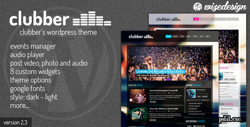 Clubber,entertainment,wordpress,themes,theme,wp,premium