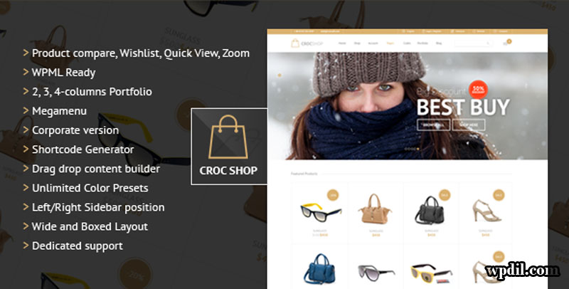 Crocshop,ecommerce,sticky,navigation,wordpress,wordpress themes,wp,themes,theme,premium themes,Sticky Navigation ECommerce