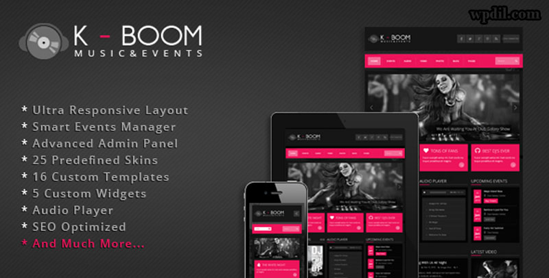 Kboom,entertainment,wordpress,themes,theme,wp,premium