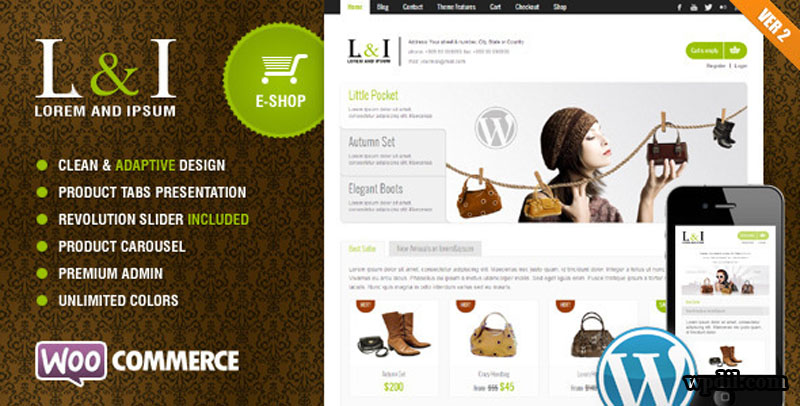 L&I,ecommerce,sticky,navigation,wordpress,wordpress themes,wp,themes,theme,premium themes,Sticky Navigation ECommerce