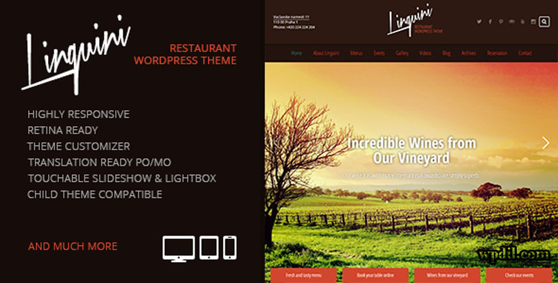 Linguini,entertainment,wordpress,themes,theme,wp,premium