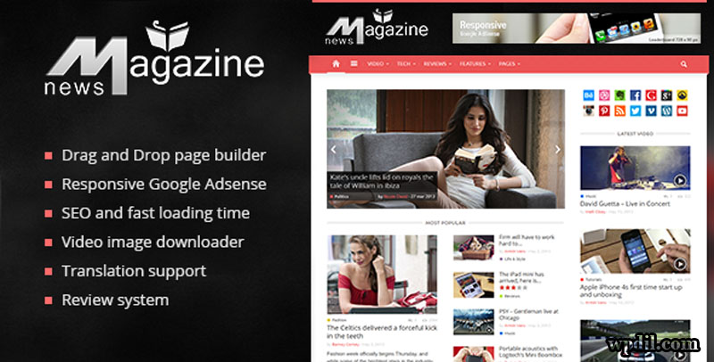 Magazine,wordpress,wpdil,wp,themes,theme,premium,template,php