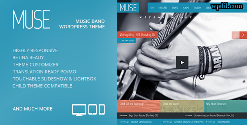 Muse,entertainment,wordpress,themes,theme,wp,premium