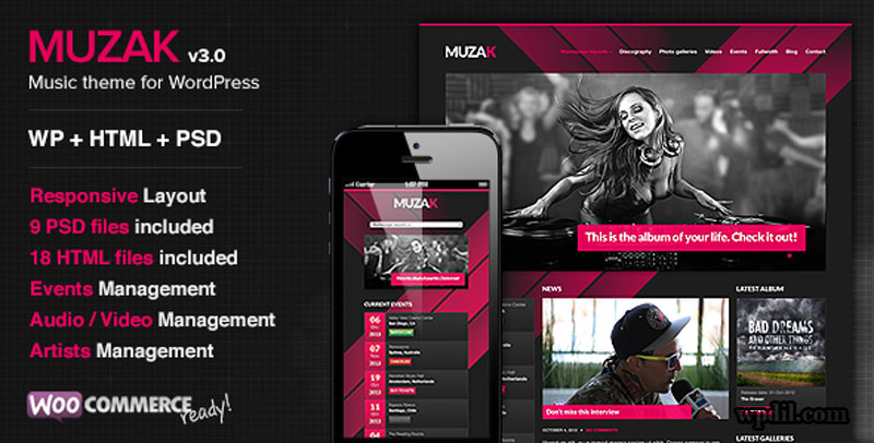Muzak,entertainment,wordpress,themes,theme,wp,premium