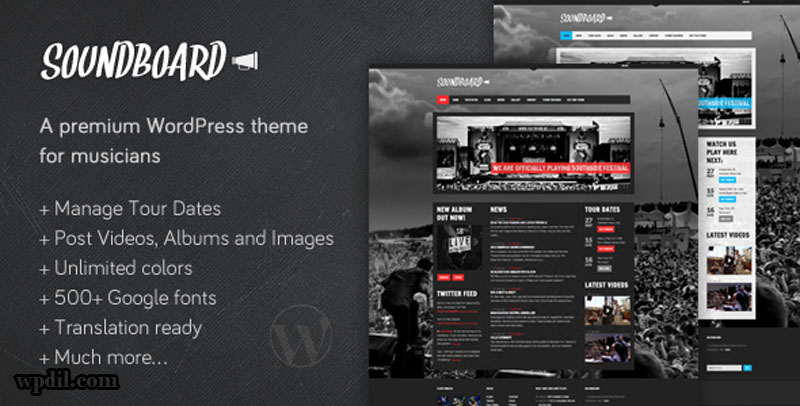 SoundBoard,entertainment,wordpress,themes,theme,wp,premium