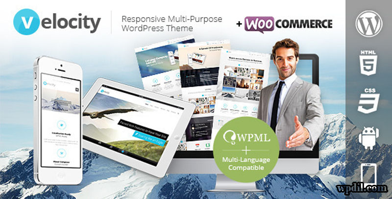 Velocity,wordpress,wpdil,wp,themes,theme,premium,template,php