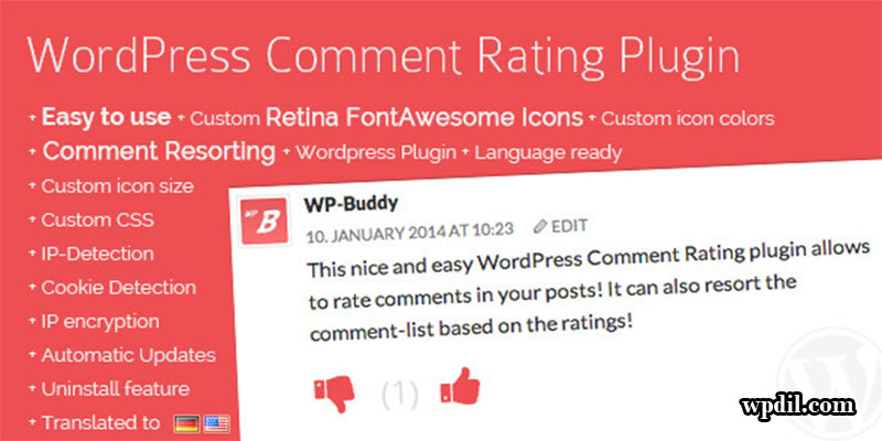 comment rating,comment plugin