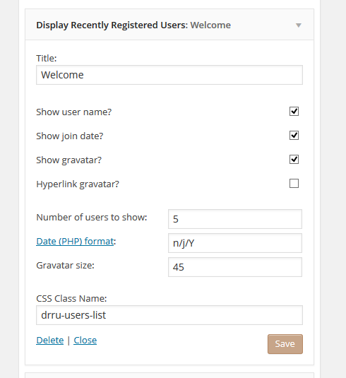 customize,Display Recently Registered Users