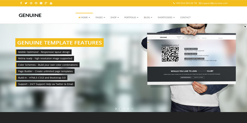 genuine,bootstrap theme