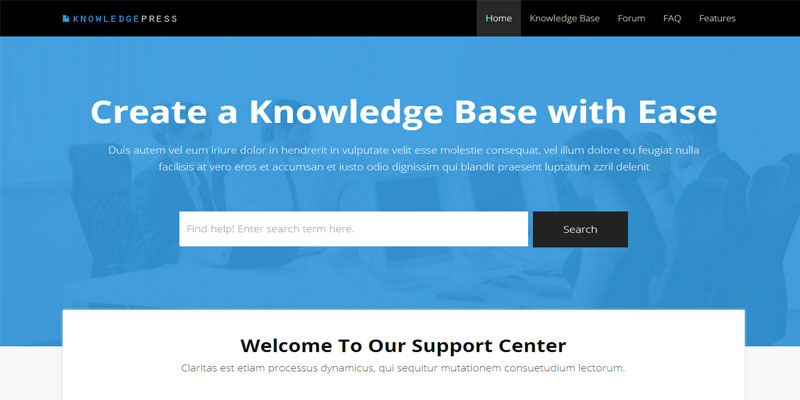 knowledgepress,bootstrap theme