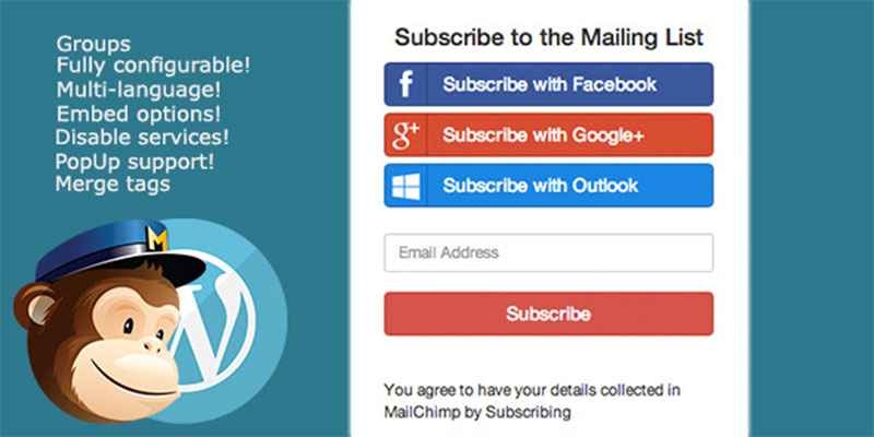 mailchimp socialemail,mailchimp,newsletter,subscription.subscriber,subscription