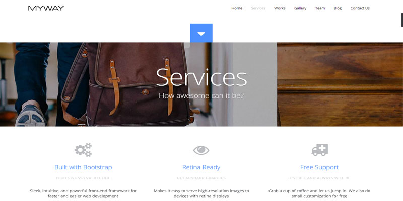 myway,bootstrap theme