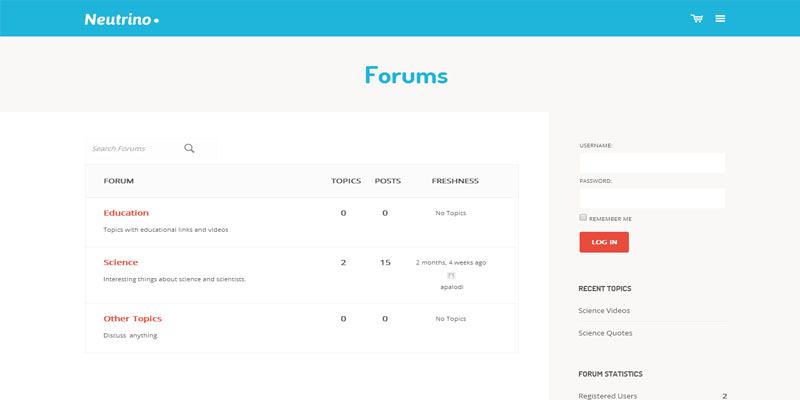 neutrino,buddypress,forum,bbpress,wordpress,theme