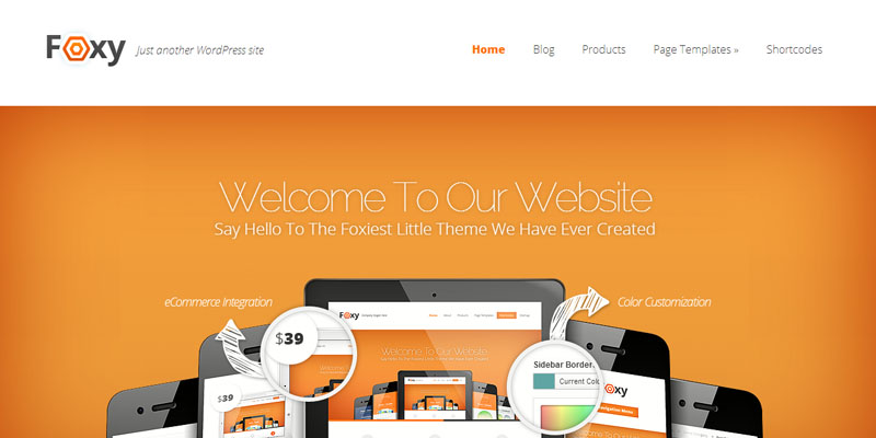 Foxy,premium wordpress themes